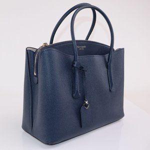 NWT Kate Spade Large Margaux Satchel Bag Navy